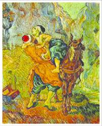 vincent van gogh s famous painting the good samaritan interpreting the transporting animal to be