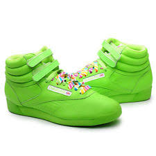 reebok high tops. reebok women shoes freestyle hi top rainbow 2-176159 green high tops 7
