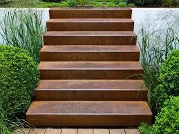corten steel weathered stairs stylish