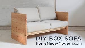 diy modern furniture. DIY Sofa Made Out Of 2x10s YouTube Diy Modern Furniture O