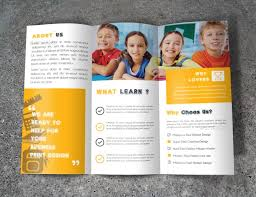 school brochure design ideas guidelines on writing and designing brochures for kids