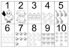 Small Picture Numbers Coloring Pages glumme