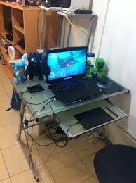 my laptop desk home setup by thistledruby
