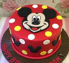 Red And Black Minnie Mouse Cake Ideas Mickey Cakes Plus Birthday