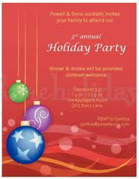 Corporate Holiday Party Invite Printable Dangling Bulb Corporate Invitation Template