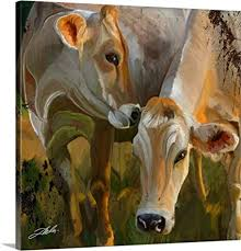 tim dardis premium thick wrap canvas wall art print entitled two cows 16 quot x16 quot on two cows canvas wall art with amazon tim dardis premium thick wrap canvas wall art print