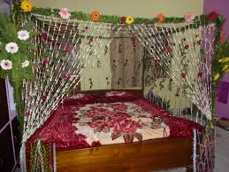 Wedding Bedroom Decorations Indian Wedding Bed Decoration Images N Wall Decal