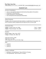 college football coach resume sample basketball template example hockey  format . soccer coach resume ...