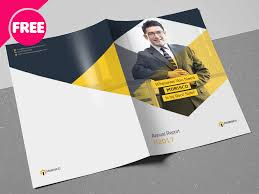 Pamphlet Template Free Free Psd Annual Report Brochures Template By Free Download Psd