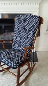 wooden rocking chair with cushion. Modren Rocking Custom Quatrefoil Rocking Chair Cushions Glider Replacement Pads Rocker  Wooden Pads By MayberryandMain On Etsy  And With Cushion