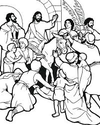 Small Picture Catholic Palm Sunday Coloring Pages People Worship In Page