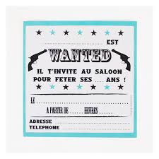 Invitation Anniversaire Cow Boy Holly Party