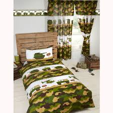 army camp camo junior duvet cover set matching 72 curtains kids bedroom new