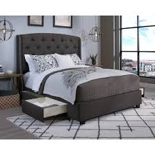 upholstered bed grey. Peyton Grey Queen Upholstered Bed O