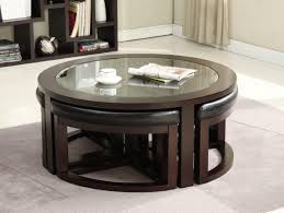 round coffee table with stools round coffee table with ottomans underneath coffee table with seating underneath