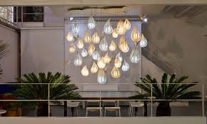 image of awesome raindrop chandelier lighting