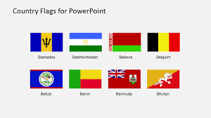 Country Flags Clipart For Powerpoint A To B