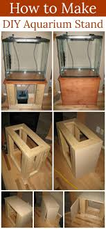 diy easy wood glass aquarium stand easy diy fish tank stand ideas and projects