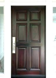 mahogany front door traditional entry doors 6 panel wooden with glass panels do
