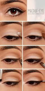 eyeshadow and winged eyeliner tutorial eye enlarging makeup easy eye makeup eye makeup