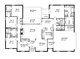 5 bedroom house plans.  Plans House Plans Single Story Two Wings Floor Plan 5 Bedrooms Five  Bedroom Tudor With P