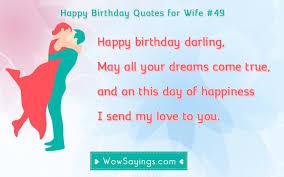 Happy Birthday Love Quotes For Her Unique Happy Birthday Quotes For Wife WowSayings