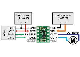 drv8838 single brushed dc motor driver carrier brushed dc motor driver carrier minimal wiring diagram for connecting a microco