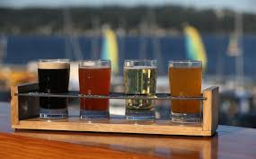 the magnuson cafe brewery serves a tasting flight of four diffe beers for 10