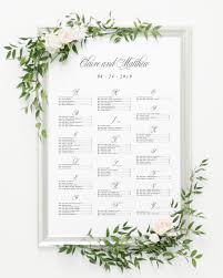 The Sinclair Seating Chart Garden Elegance Seating Chart