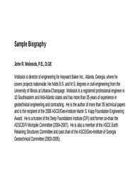 Biography Example Cool 48 Biography Writing Samples And Templates PDF Word Sample