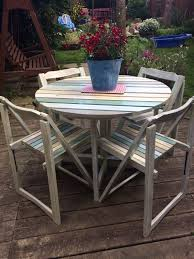 shabby chic patio furniture. Unique Shabby Chic Garden Table And Chairs Set Patio Furniture A