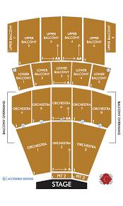 Seating Chart Coronado Performing Arts Center