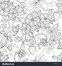 Adults Color Pages Free Printable Butterflies Cutouts Flowers
