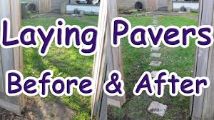 how to install brick pavers on grass