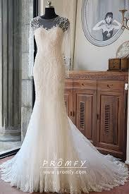 Luxury Beaded Long Sleeve Ivory Long Wedding Gown - Promfy