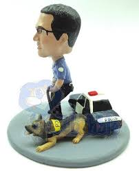 officer and k9 custom next to their car bobble head premium gift ideas for men