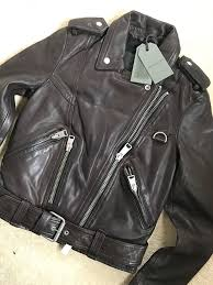 details about all saints women s oxblood gidley leather biker jacket uk 6 8 10 new tags