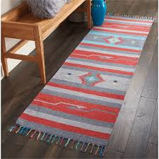 kitchen runner rugs nourison baja moroccan grey red runner rug 2 3 x7 6