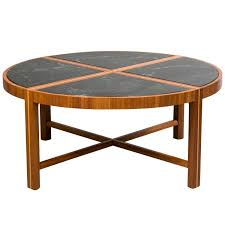round coffee table with green marble top for