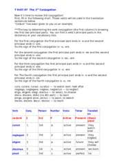 Latin 3rd Conjugation Chart 07_07 3 T Th07 07 The 3rd Conjugation Now Its Time To