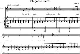 ich grolle nicht sheet music schumann robert sheet music to download