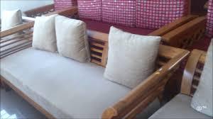 bent design for teak wood sofa set