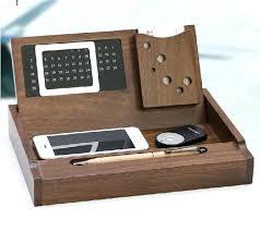 creative walnut wood wooden desk organizers office supplies debris disk rack storage box calendar card organizer wooden drawer storage desk