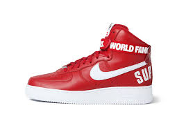 nike shoes air force 1 supreme. satisfying 2015 nike af1 air force 1 high x supreme hi sp shoes classical red white sneakers ihg8kzkx
