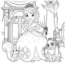 Princess Sofia Coloring Pages Pdf Color Bros