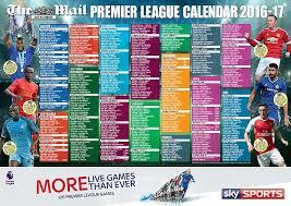 Premier League Wall Chart Follow The 2016 17 Premier League Season With Our Superb