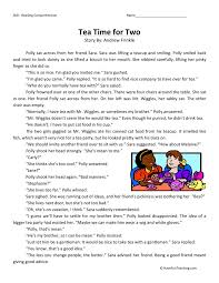 Reading Comprehension Worksheet - Tea Time for Two