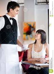 waiter serving coffee royalty free stock photos  image