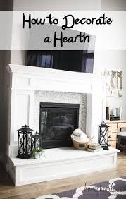 fireplace hearth decor