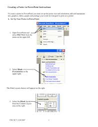 Create A Poster In Powerpoint Creating A Poster In Powerpoint Instructions